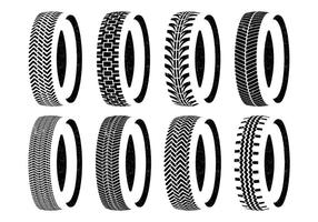 Tire Wheel Vector Set