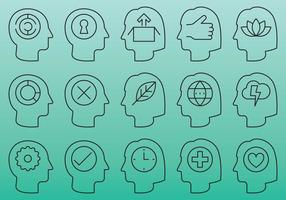 People Head Icons vector
