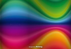 Abstrait Rainbow Waves Vector Background