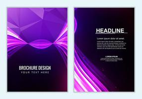 Free Vector Purple Brochure Background