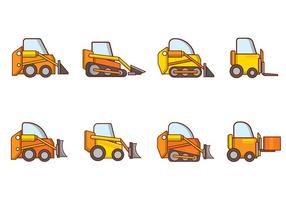Gratis Cartoon Skid Steer Vector