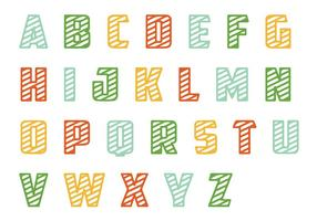 Striped Letras Pack de vectores