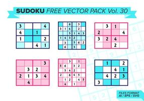 sudoku free vector pack vol. 30