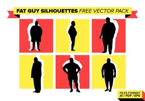 Fat Guy Siluetas Pack Vector Libre