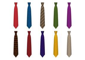 Gratis uppsättning klassiska slipsar vektor