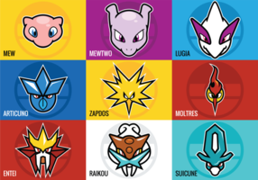 Legendary Pokemon Vectors
