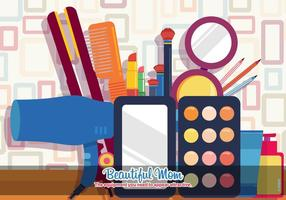 Beautiful Beauty Vector Cosmetics