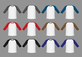 Free Raglan T-shirt Template Vector