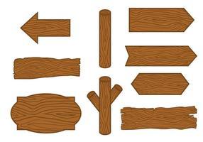 Dibujado a mano de troncos de madera Vector