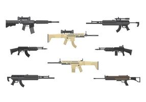 Free Assault Rifles Vector