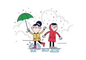 Vetor de chuva livre