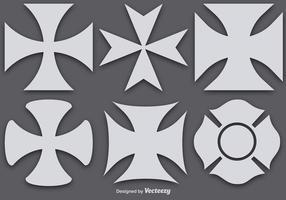 Croix maltaises vectorielles