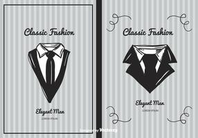 Klassisk mode bakgrundsvektor