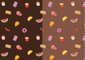 Food Pattern Vector