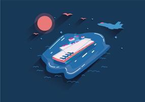 Flugzeugträger Vektor