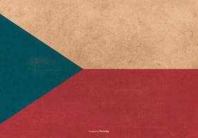 Tsjechische Republiek Grunge Vlag