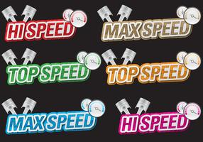 Speed Titles vector