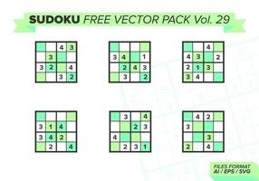 Sudoku Pack Vector Libre Vol. 29