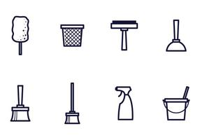 Linear Cleaning Icon Vectors