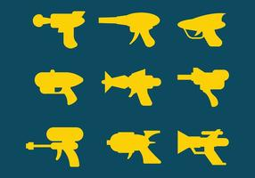 Vecteur d'icônes de pistolet laser gratuit