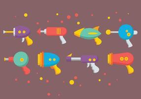 Vetor colorido dos ícones da arma do laser