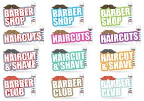 Barber Shop Titles vector