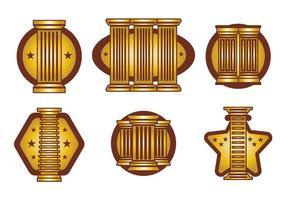 Vector de pilares romanos