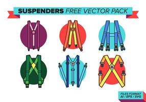 Suspenders free vector pack