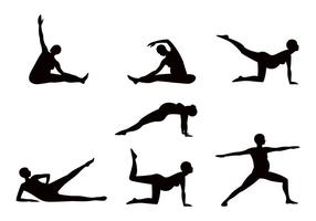 Gravidez Yoga Sillhouette