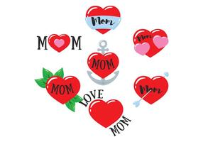 Mom Tattoo Vector