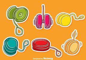 Hand Drawn Yoyo Vector Set