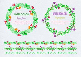 Free Vector Hand Drawn Watercolor Thyme Frames