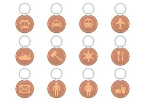 Symbols Key Holder Vector