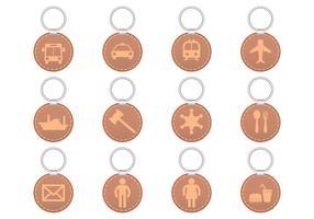 Vecteur porte-clés des symboles