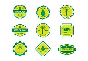 Gratis 100% Palm Oil Badges Vector