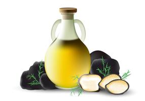 Truffles Oil In Vector