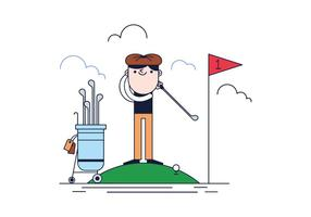 Vector de golf gratis