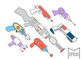 Pistolets laser à vecteur gratuit