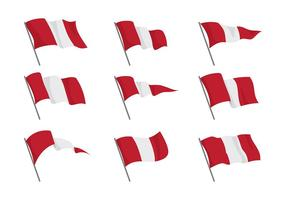 Peru Vlag Vectoren