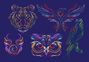 Pinstripes Animal Vectors