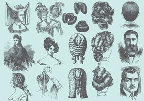 Weinlese-Frisuren