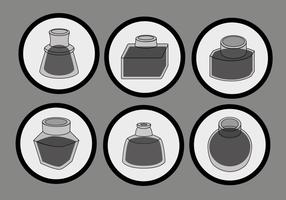 Simple Black Ink Pot Vector