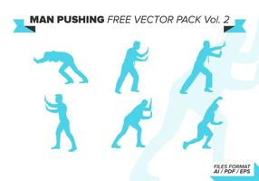 Man Pushing Free Vector Pack Vol. 2