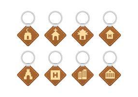 Landmärke souvenir nyckel hållare vektor