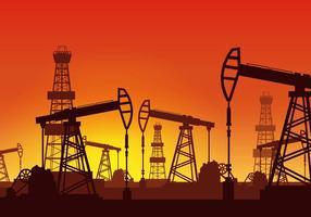 Oil Rig Vector