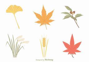 Ensemble de vecteur libre de feuilles d'automne