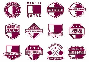 Free made in qatar badges vector