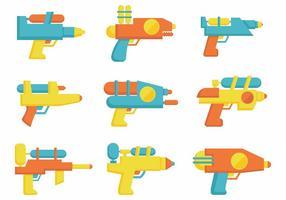 Free Water Gun Flat Vektor
