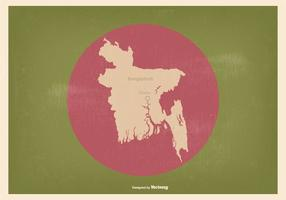 Bandeira de Bangladesh com mapa