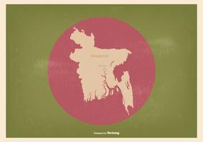 Bangladesh flagga med karta